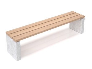 3D maro outdoor bench backrest