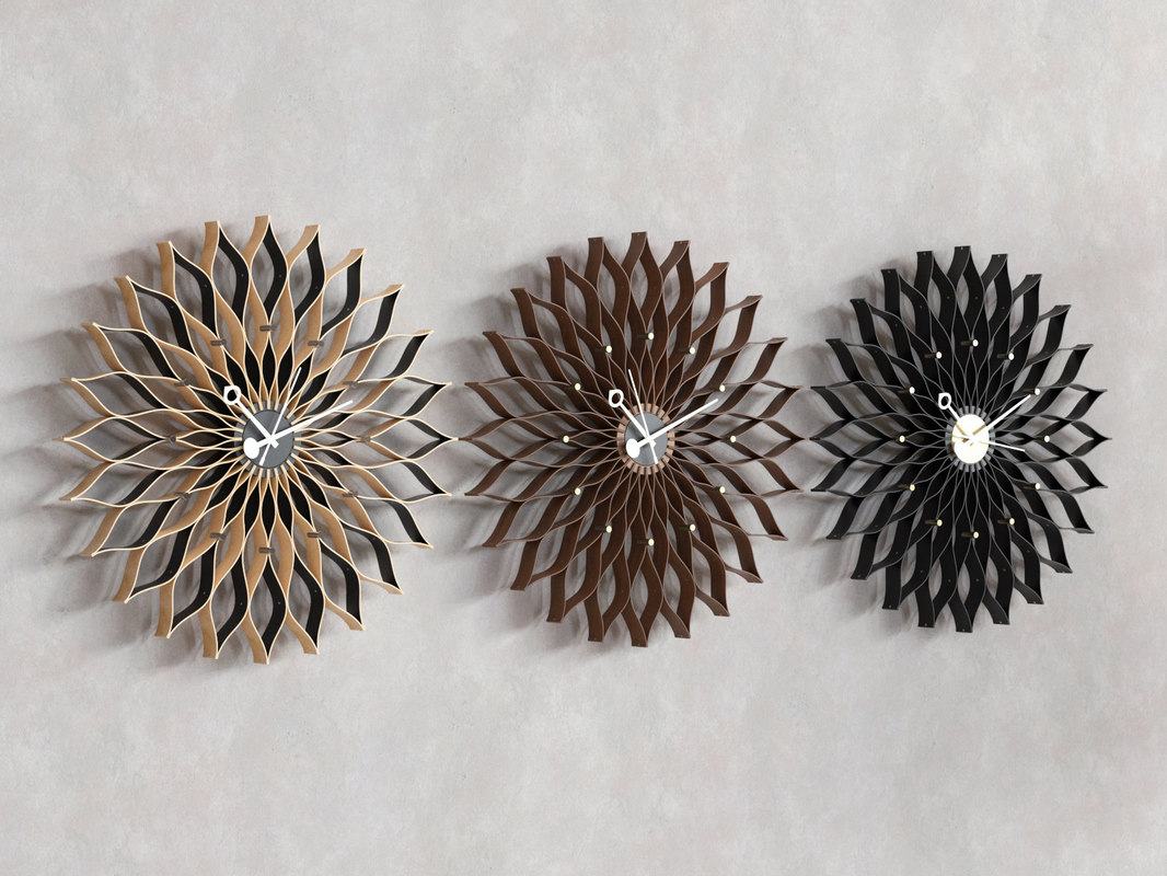 3D sunflower clock model