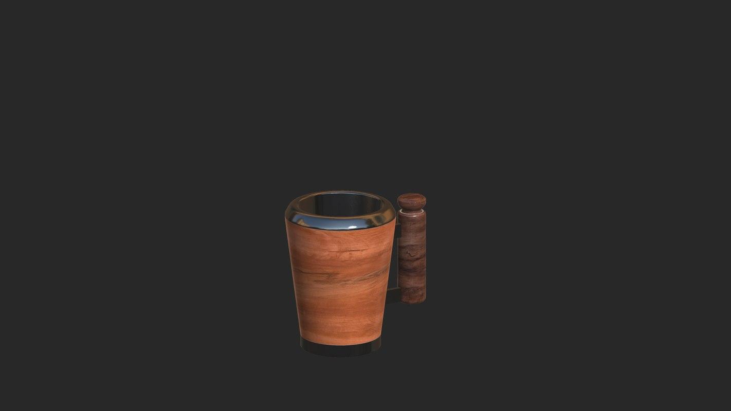 3D wood mug