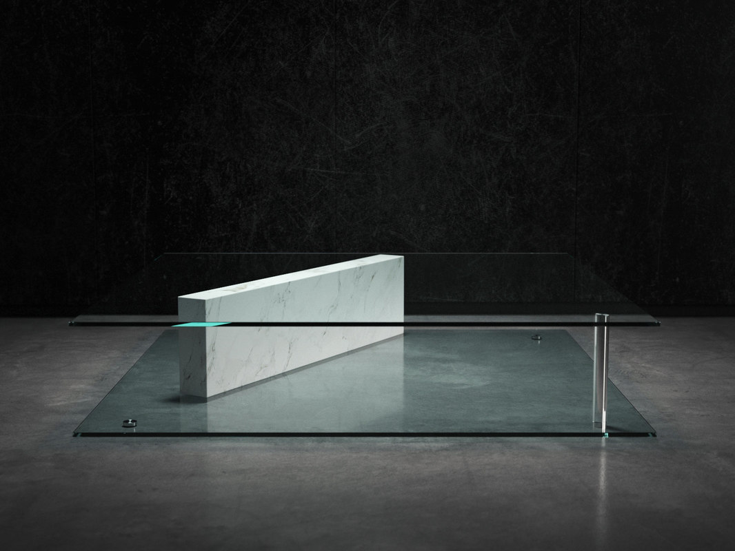 plane coffee table 3D model