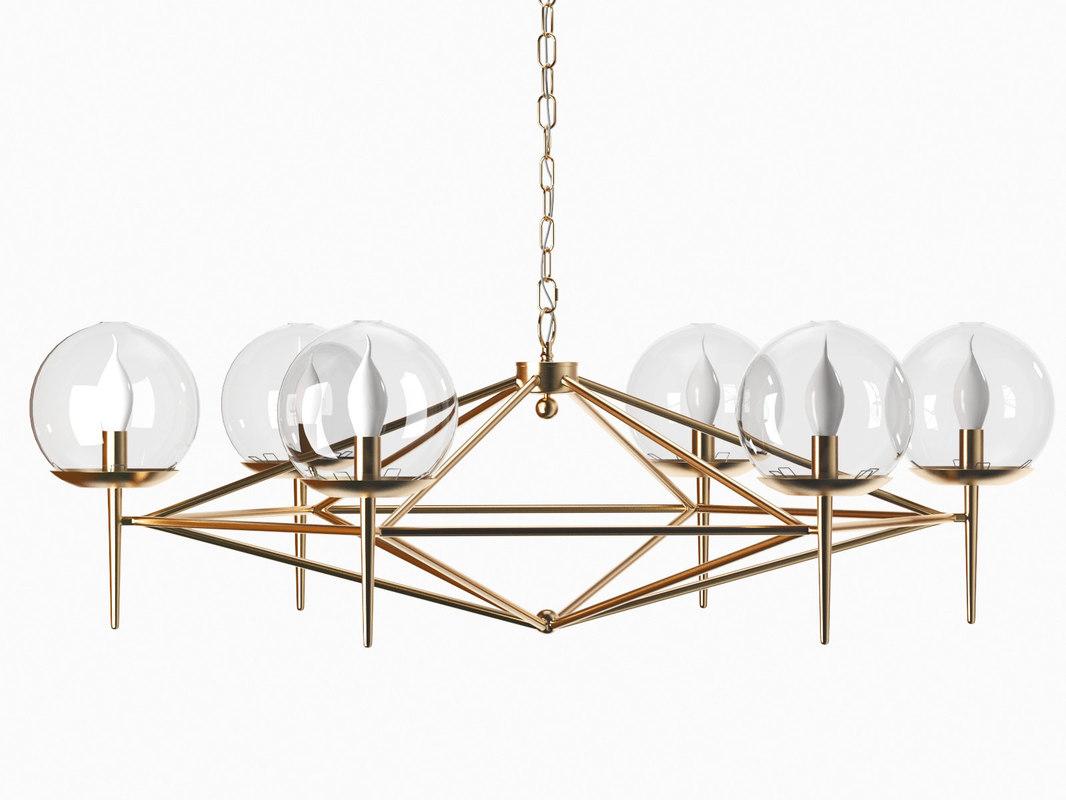 rowan chandelier 3D
