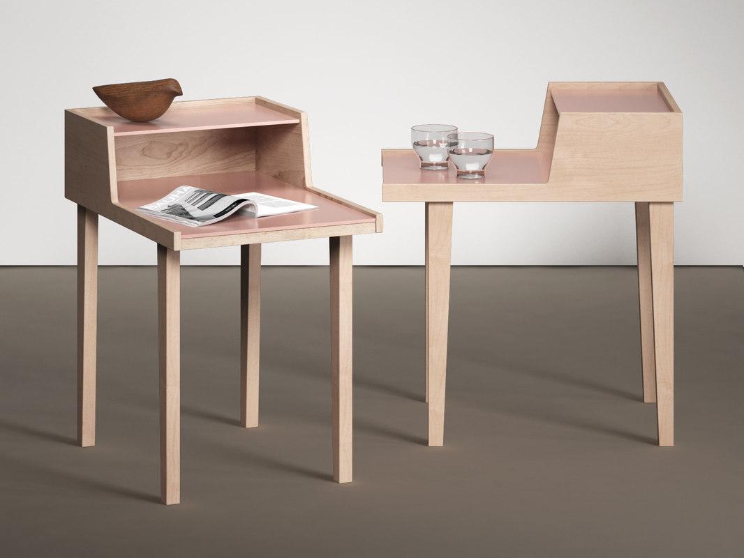 3D model pavane bedside table