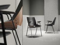 3D shell armchair seat cushions model
