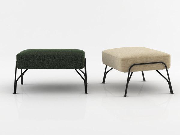 3D humphrey footstool