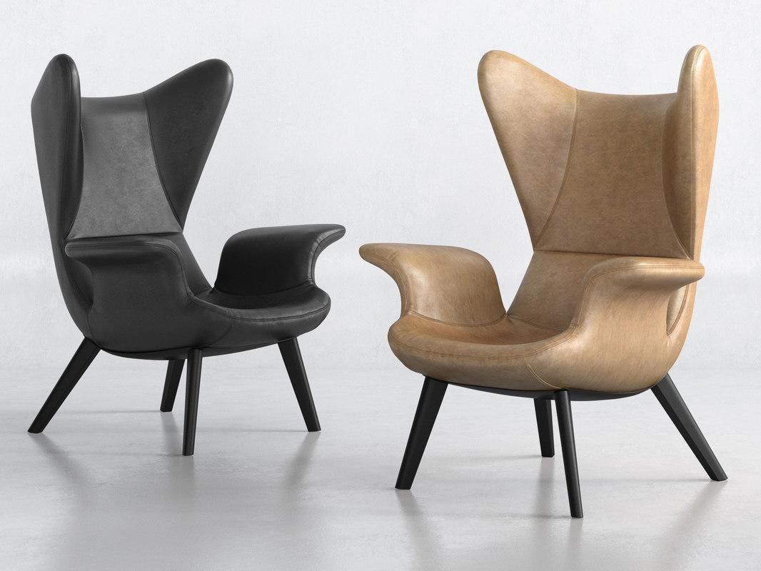 longwave armchair 3D model