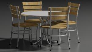restaurant chair table 3D model