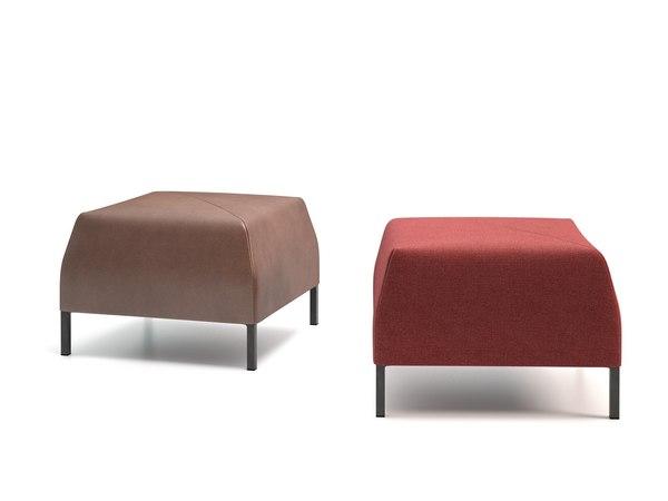 3D model riga footstool