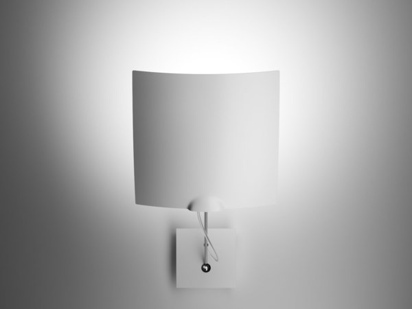 3D 18x18 single wall lamp model