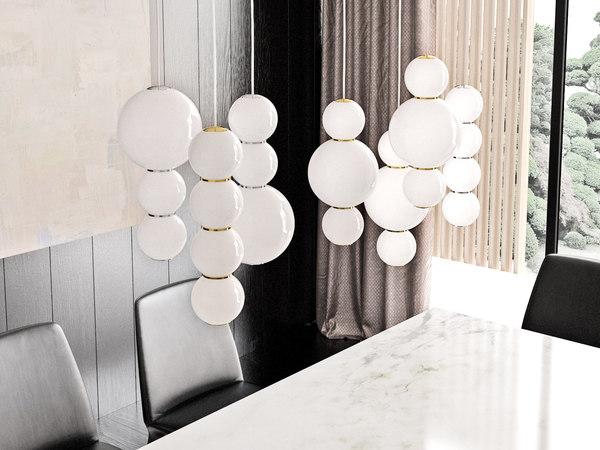 3D pearls pendant