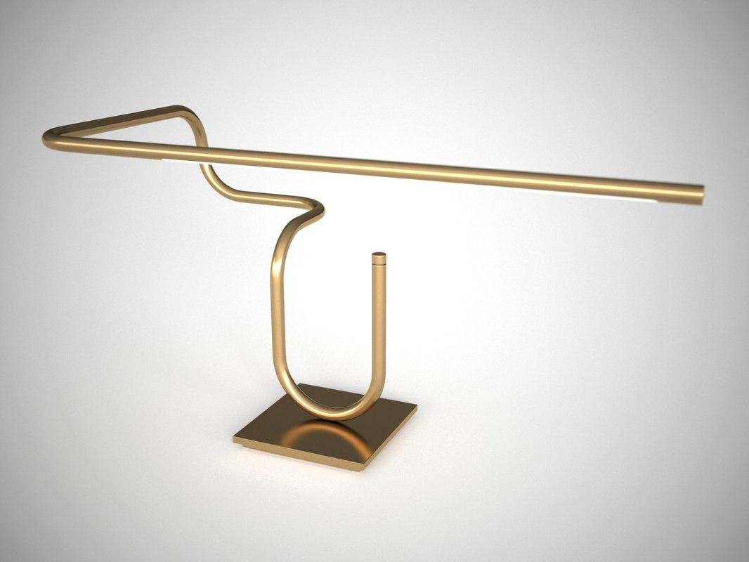 tube desk lamp 3D model