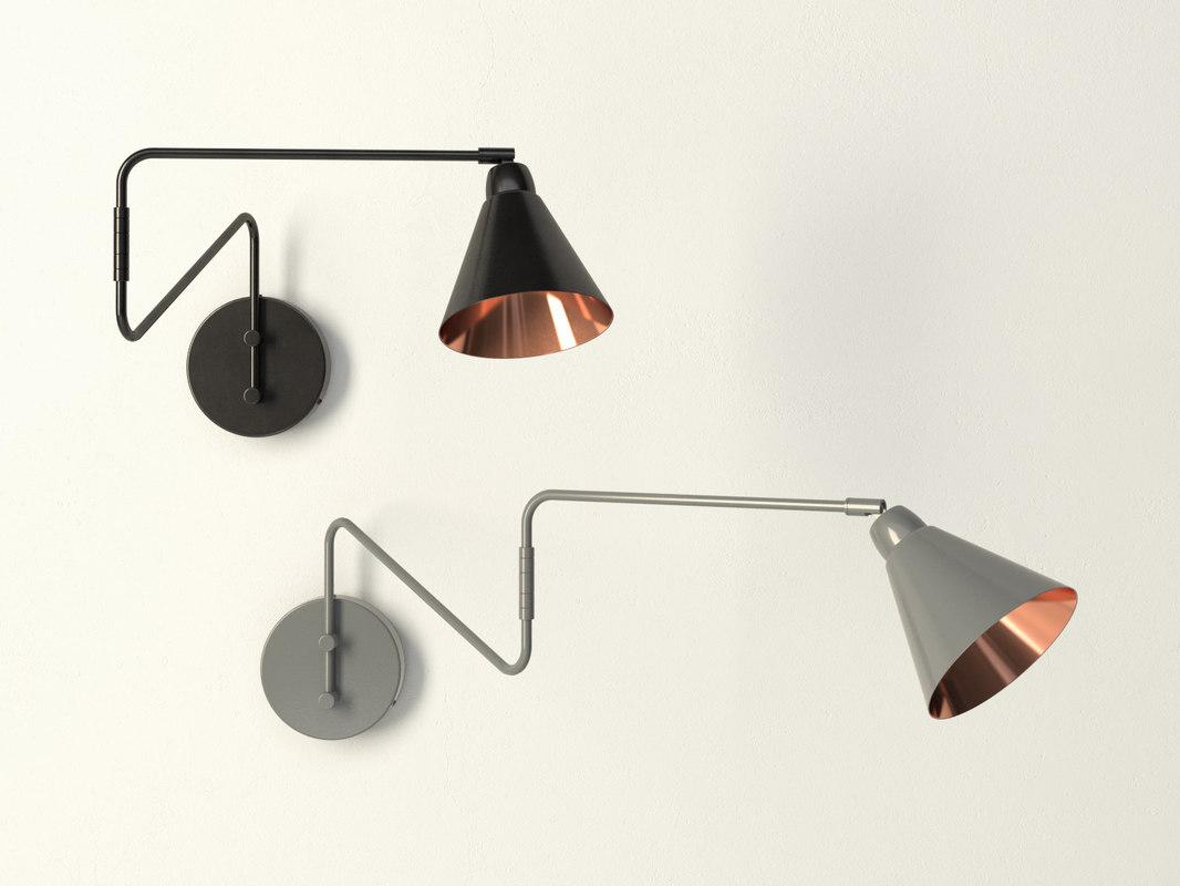 wall lamp m 3D model