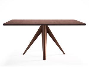 noa 160 rectangular dining table 3D