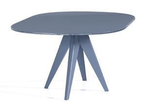 3D noa 180 oval dining table model