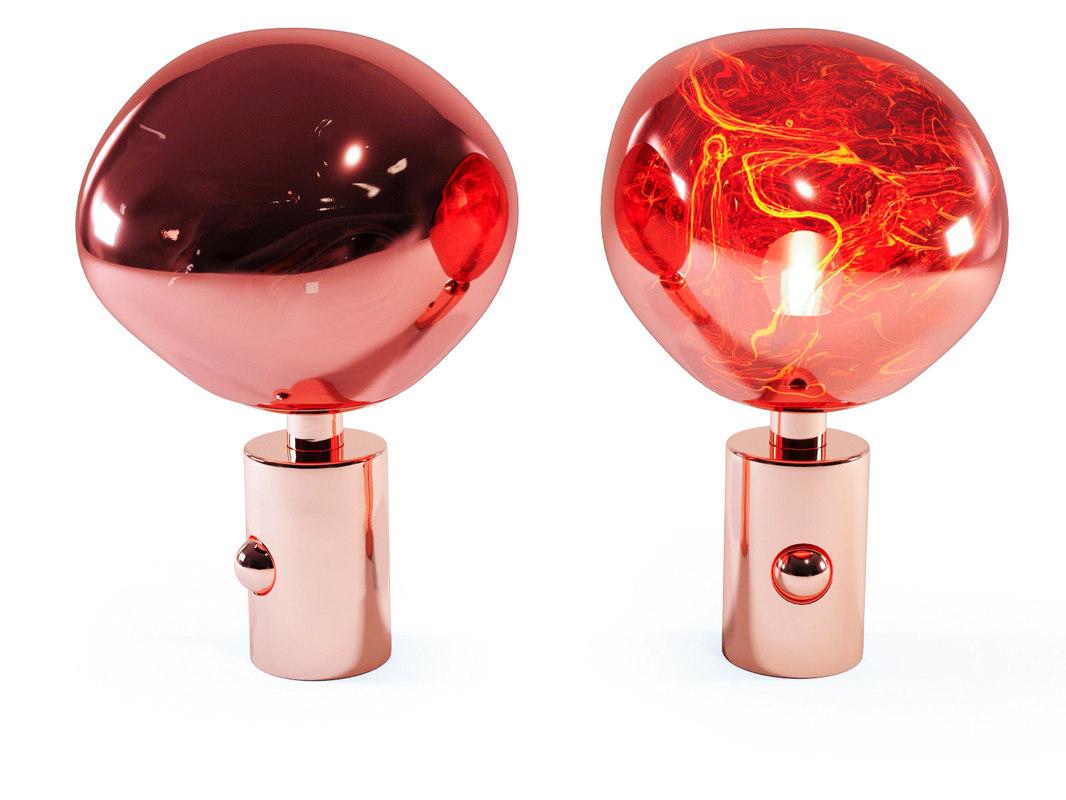melt table lamp 3D model