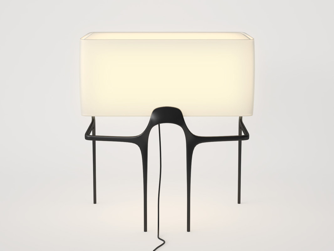 3D model flint table lamp