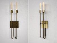 3D lisse 2 light sconce model