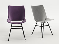 shell chair upholstered 3D
