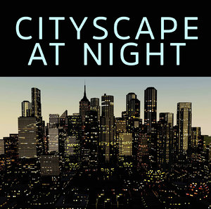 cityscape night 3D model