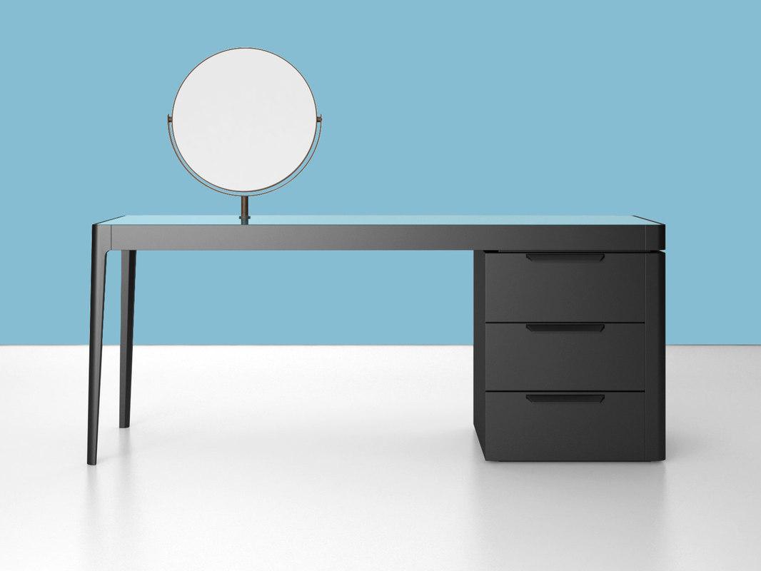 afrodite writing desk 3D model