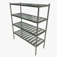 3D model kitchen rack