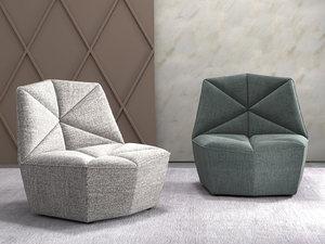 3D gossip armchair model