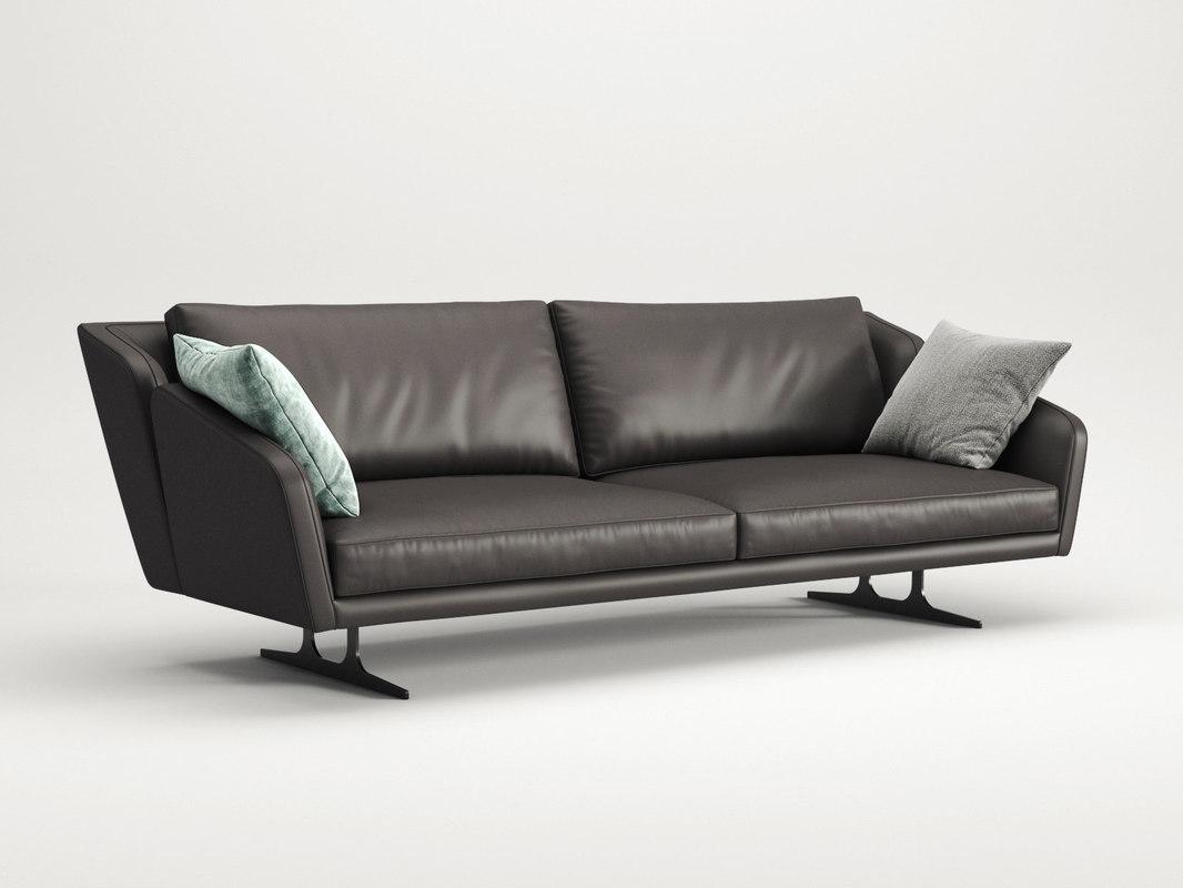 3D nikita 3-seater sofa model