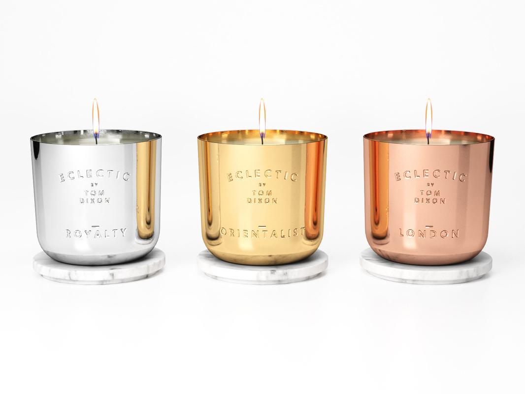 3D model eclectic candle medium