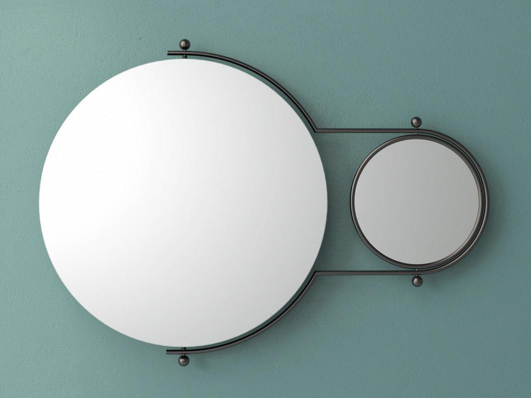 orbit wall mirror 3D model