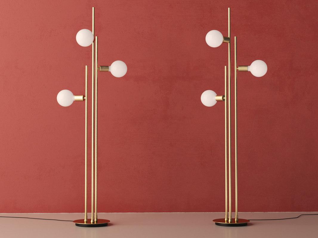 bulb floor lamp 3D model