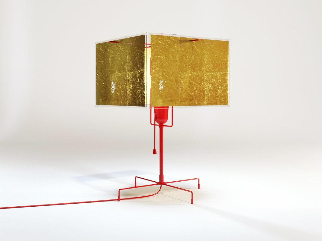 3D model 24 karat table lamp