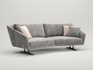 nikita 3-seater special sofa 3D model