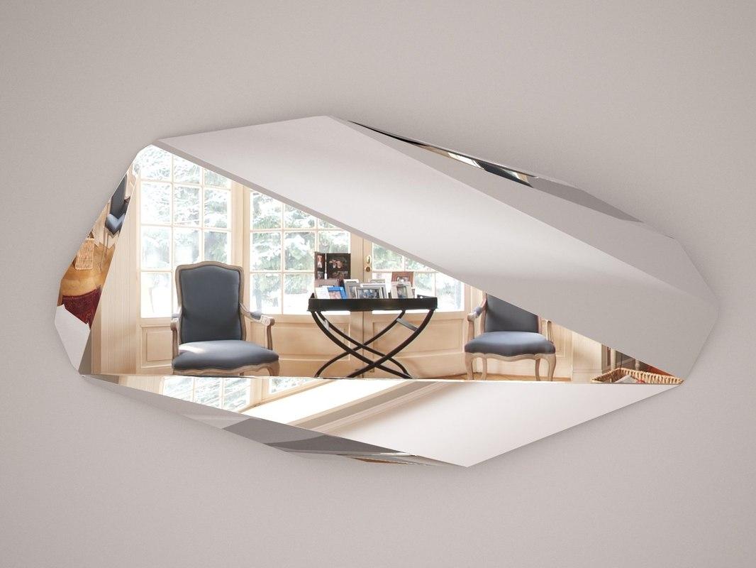 3D piega mirror model
