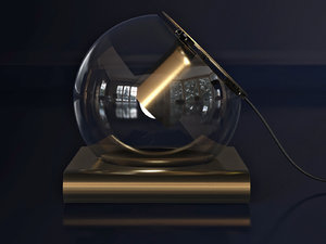 globe table lamp 3D