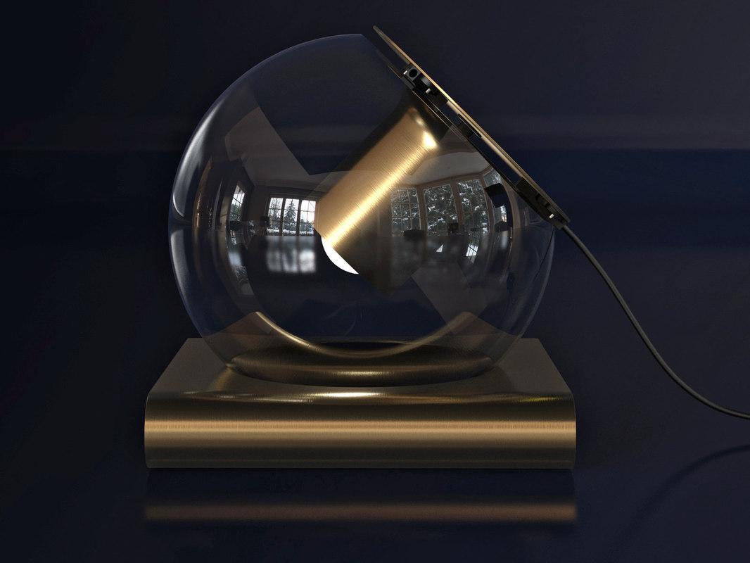 globe table lamp 3D