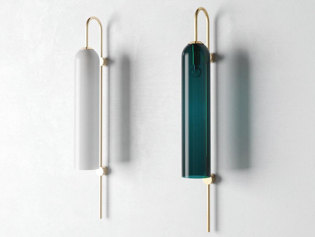 3D model float wall lamp