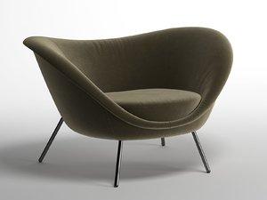 3D armchair d 154 2