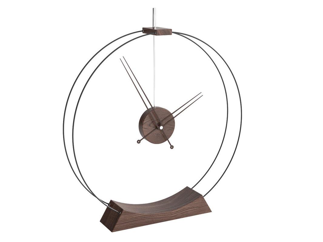 double rings desk clock 3D model