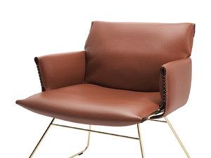 3D model ds-515 lounge chair armrests