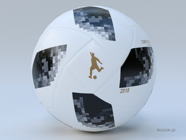 soccer ball 2018 3D model