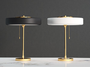 3D revolve table lamp model