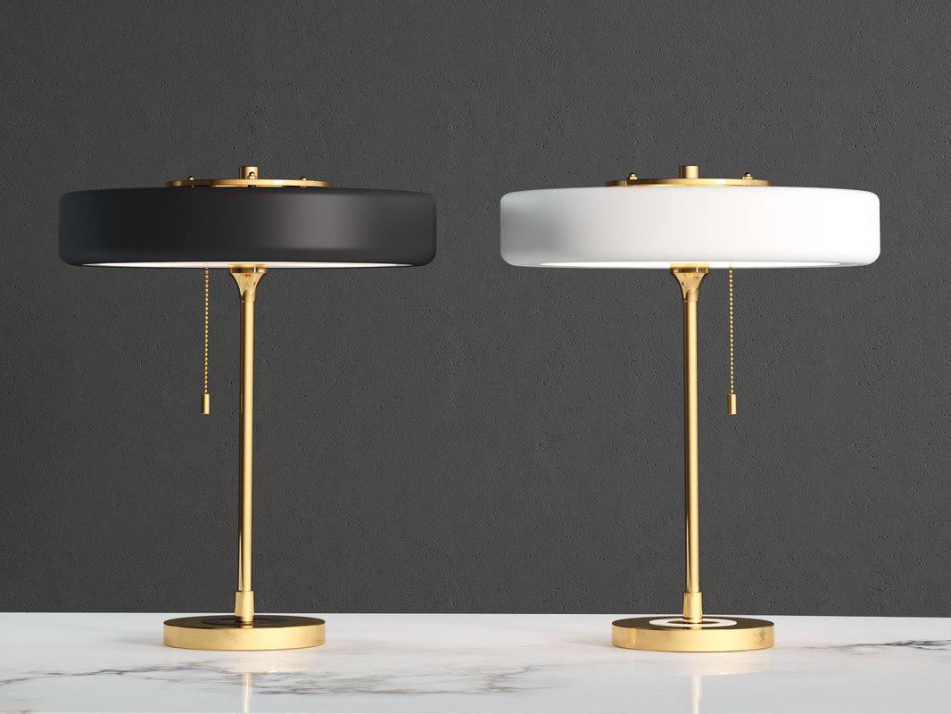 3D revolve table lamp model