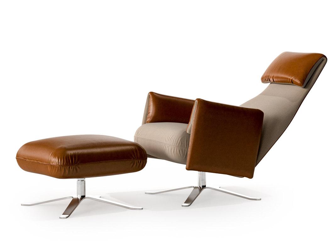 senator armchair ottoman 3D model