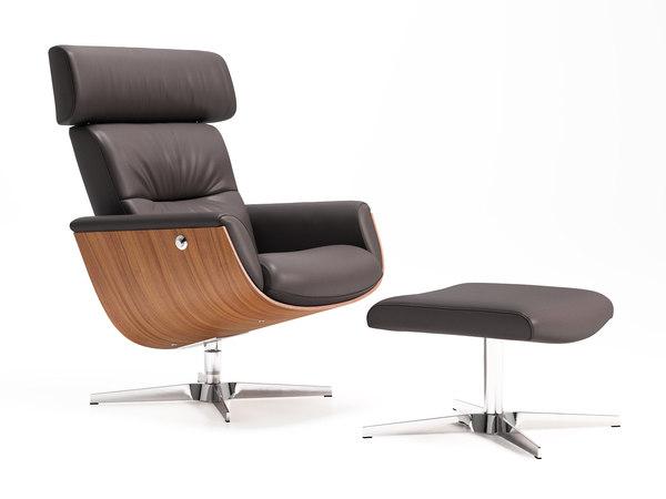 evolution relax chair ottoman 3D
