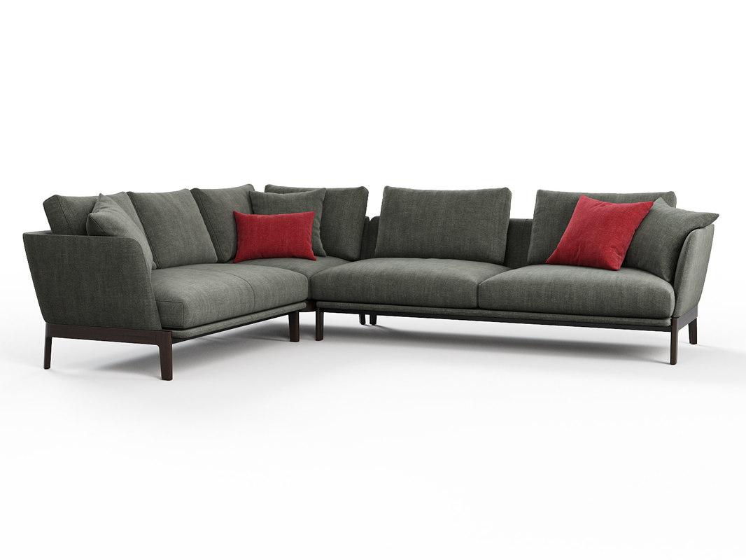 chelsea chc08 corner sofa 3D