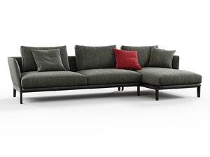 chelsea chc04 corner sofa 3D model