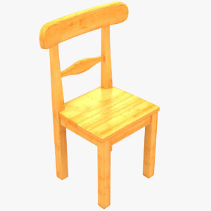 3D model country sweden chair