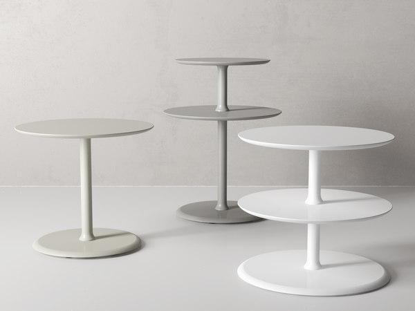 elysée small tables 3D model