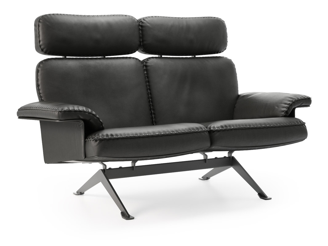 3D ds-31 112 2-seater sofa model