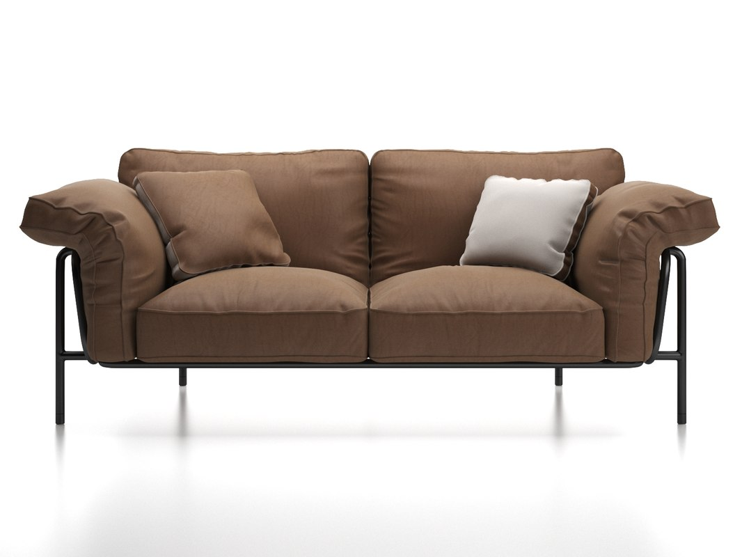 ds-610 2-seater sofa 3D model