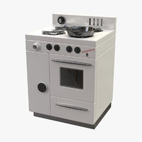 3D stylized retro stove new